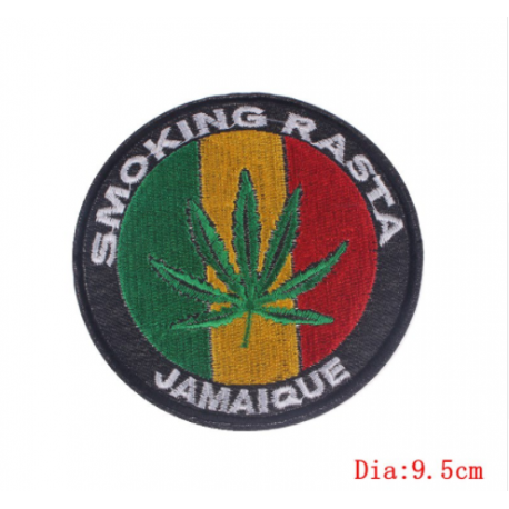 Smoking Rasta Patch