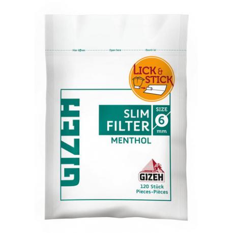 Cigaret Filter Gizeh Menthol 6mm