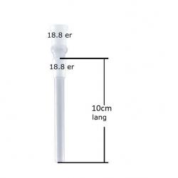 Slamrør 18.8mm 10cm