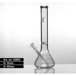 Glass Leaf Bong 35cm